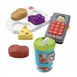 Fisher-Price ROZWIJAMY WYOBRAŹNIĘ Zestaw Zabawek Telefonik + Aktywizujący kubeczek + Deska przysmaków HFJ95
