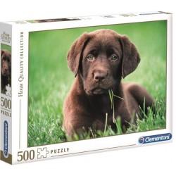 CLEMENTONI Układanka Puzzle 500 Elementów High Quality Collection Chocolate Puppy CZEKOLADOWY SZCZENIAK 35072