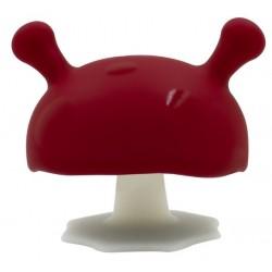 MOMBELLA Gryzak Silikonowy Uspokajający Mushroom Bordowy 8126