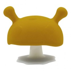 MOMBELLA Gryzak Silikonowy Uspokajający Mushroom Musztardowy 8127