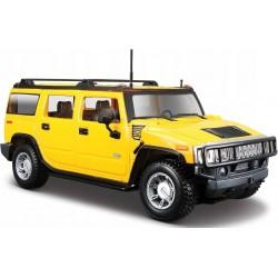 MAISTO Metalowy Pojazd Model Auta Skala 1:27 2003 HUMMER Z2 SUV Żółty 31231