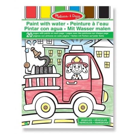 Melissa & Doug - 14164 - Kolorowanka na Wodę - Pojazdy