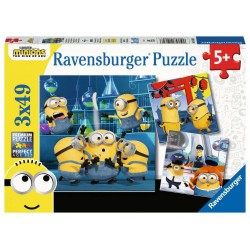 RAVENSBURGER Puzzle 3x49 MINIONKI 050826