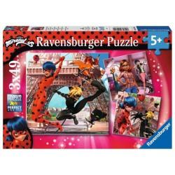 RAVENSBURGER Puzzle 3x49 MIRACULOUS 051892