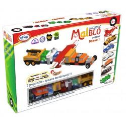 MALBLO MAGNETIC Klocki Magnetyczne 7 pojazdów ZESTAW DELUXE 1 0313
