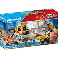 PLAYMOBIL City Action 70742 Plac budowy z wywrotką