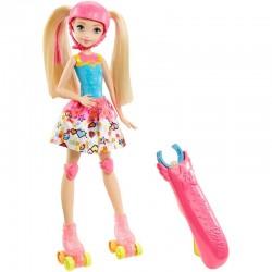 Mattel - DTW17 - Lalka - Barbie: Video Game Hero - Barbie w Świecie Gier na Wrotkach - NOWOŚĆ 2017!