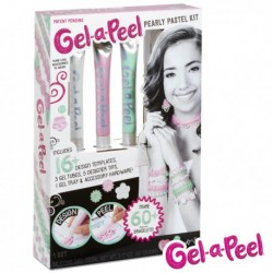 MGA Entertainment 6245 - Gel - a - Peel Glow Pearly Pastel Kit - Pastelowy - Zestaw do Tworzenia Biżuterii 3D