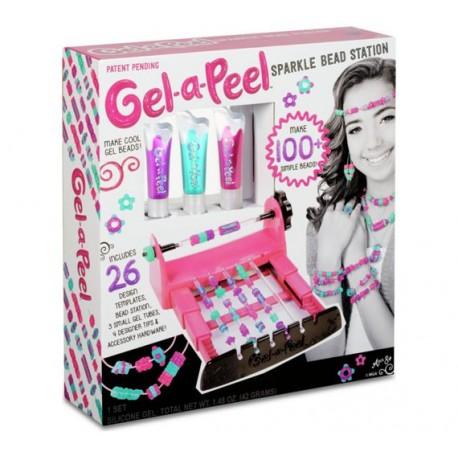 MGA Entertainment 5224 - Gel - a - Peel Sparkle Bead Station - Pracownia Koralików - Zestaw do Tworzenia Biżuterii 3D