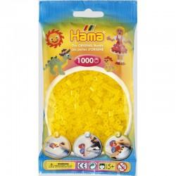 Hama Midi 20714 Koraliki Żółte Transparentne Zestaw Uzupełniający 1000 szt.