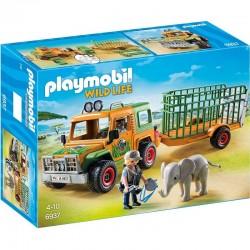 PLAYMOBIL 6937 Wild Life - Jeep - TERENÓWKA RANGERA Z PRZYCZEPĄ