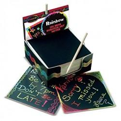 MELISSA & DOUG 15945 - Mini Scratch Art Notes - Tęczowe Zdrapki - 125 KARTONIKÓW