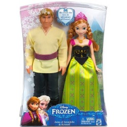 Mattel - BDK35 - Disney - Frozen - Błyszcząca Kraina Lodu - Zestaw Anna i Krzysztof - lalki 30 cm