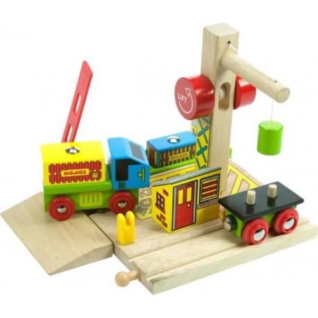 Bigjigs Toys - BJT209 - Port Załadunkowy - do Kolejek Drewnianych