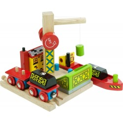 Bigjigs Toys - BJT208 - Port do Przeładunku Węgla - do Kolejek Drewnianych