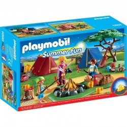 PLAYMOBIL 6888 SUMMER FUN Pole Namiotowe z Ogniskiem LED