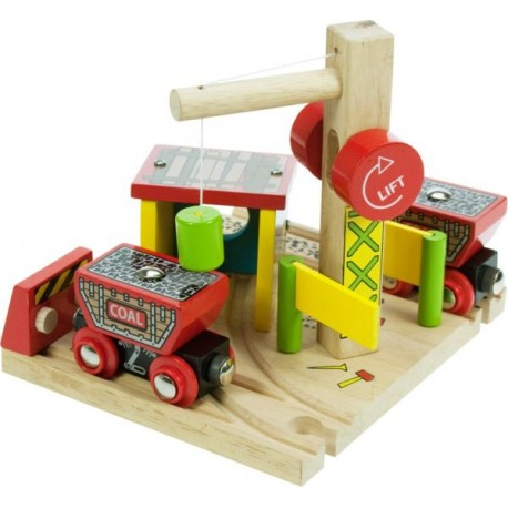 Bigjigs Toys - BJT205 - Kopalnia Wgla - do Kolejek Drewnianych