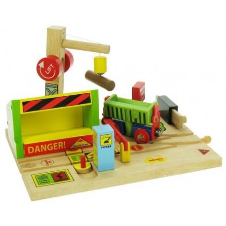Bigjigs Toys - BJT197 - Tartak - do Kolejek Drewnianych
