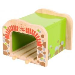 Bigjigs Toys - BJT172 - Tunel Podwójny - do Kolejek Drewnianych