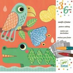 DJECO 08988 Zestaw Artystyczny - Kolorowanka PRZYJACIELE