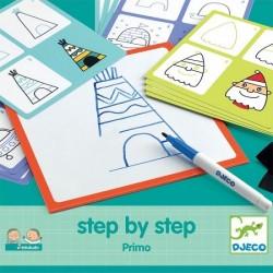 DJECO - 08323 - Zestaw do Nauki Rysowania - Rysowanie Krok po Kroku - PRIMO