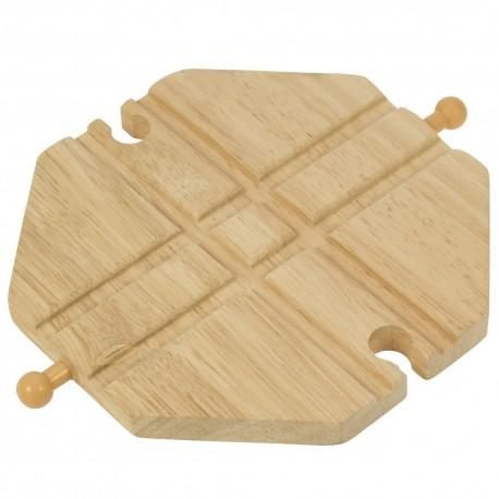 Bigjigs Toys - BJT105 - Skrzyżowanie Torów Typu X - do Kolejek Drewnianych