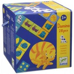 DJECO 08111 - Gra Domino 28 el. - ZWIERZAKI