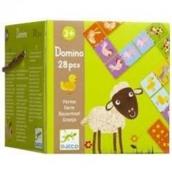 DJECO 08158 - Gra Domino 28 el. - FARMA