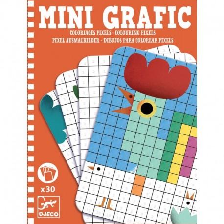 Djeco 05388 Mini Grafika Kolorowanka Malowanka Kolorowe Pixele