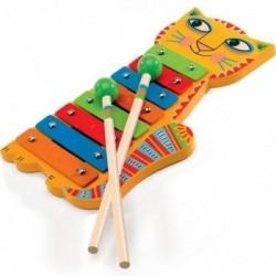 DJECO 06002 - Drewniany Instrument Cymbałki - KOTEK ANIMAMBO