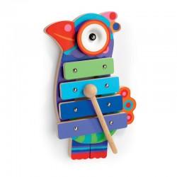 DJECO 06423 - Drewniany Instrument Cymbałki - RAJSKI PTAK KIKOU COCO