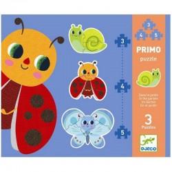 DJECO 07141 Układanka - Pierwsze Puzzle - OGRÓD