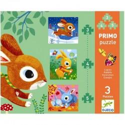 DJECO 07140 Układanka - Pierwsze Puzzle - KRÓLIK