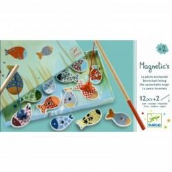 DJECO 01650 - Układanka Magnetyczna - Gra Zręcznościowa - MAGNETYCZNE WĘDKOWANIE