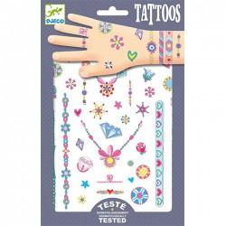 DJECO 09587 - Zestaw Tatuaży - Tatuaże - KLEJNOTY JENNI