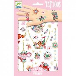 DJECO 09586 - Zestaw Tatuaży - Tatuaże - KLEJNOTY FIONY