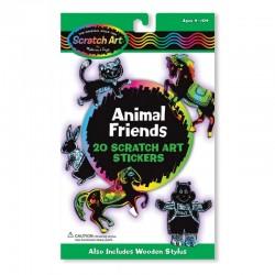 Melissa & Doug - 15827 - Zdrapki Naklejki Holograficzne - Zwierzęta