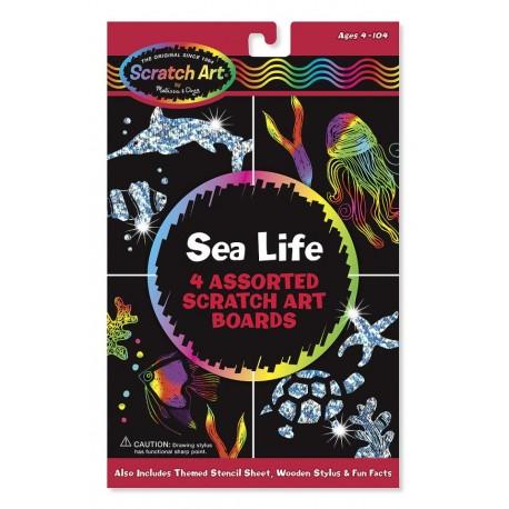 Melissa & Doug - 15918 - Zdrapki Holograficzne - Życie Morskie