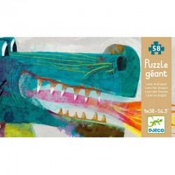 DJECO 07170 Układanka - Puzzle Gigant 58 - SMOK LEON