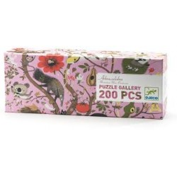 DJECO 07602 Układanka - Puzzle Gallery 200 i Plakat- ABRAKADABRA