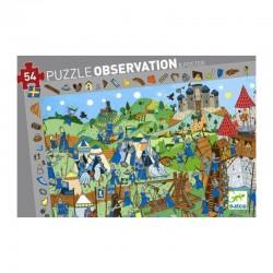DJECO 07559 Układanka - Puzzle Obserwacja 54 i Plakat - KRÓLESTWO