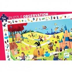 DJECO 07561 Układanka - Puzzle Obserwacja 54 i Plakat - OPOWIEŚCI