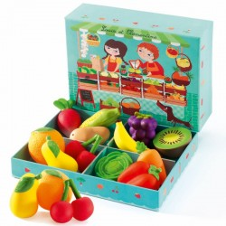 DJECO 06621 - Zestaw do Zabawy Owoce i Warzywa - STRAGAN LOUIS I KLEMENTYNKI