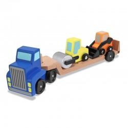 MELISSA & DOUG 12757 - Drewniane Pojazdy - Zestaw Budowlany - KOPARKA I WYWROTKA
