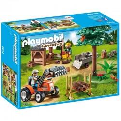 PLAYMOBIL 6814 COUNTRY Ekipa Drwali z Traktorem