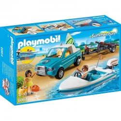PLAYMOBIL 6864 Summer Fun - SURFER I PICKUP Z MOTORÓWKĄ