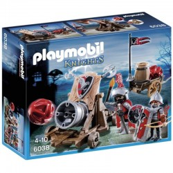 PLAYMOBIL 6038 Knights - Rycerze - OLBRZYMIA ARMATA RYCERZY HERBU SOKOŁA
