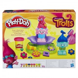 HASBRO B9027 - Ciastolina Play-Doh - Zestaw Trolle - SALON FRYZJERSKI TROLLI