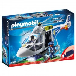PLAYMOBIL 6921 City Action - HELIKOPTER POLICYJNY Z REFLEKTOREM LED