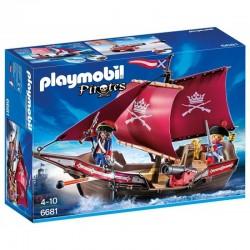 PLAYMOBIL 6681 Piraci - ŻAGLOWIEC WOJSKOWY Z ARMATĄ